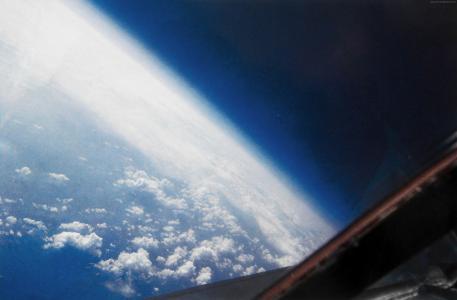 地球,空间,云(水平)