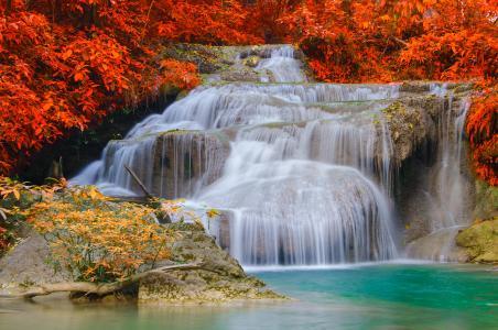 爱侣湾瀑布,瀑布,爱侣湾国家公园,泰国,4K,5K