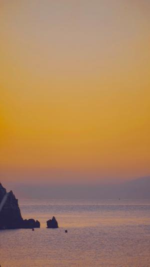 海上黄昏唯美景象