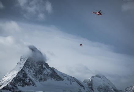 阿尔卑斯山,4k,高清壁纸,瑞士,旅游,直升机,山,雪,冬季(横向)