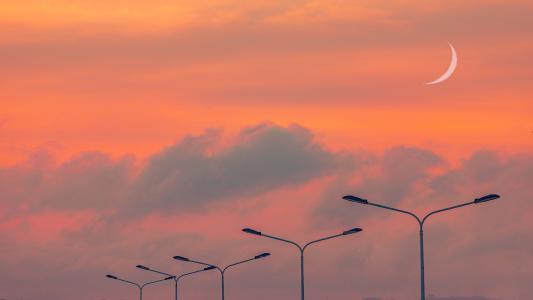 唯美迷人的晚霞景色
