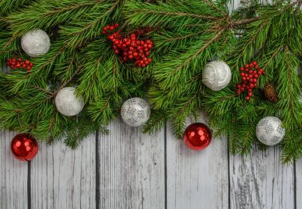 圣诞节,新年,玩具,枞树,4k(水平)