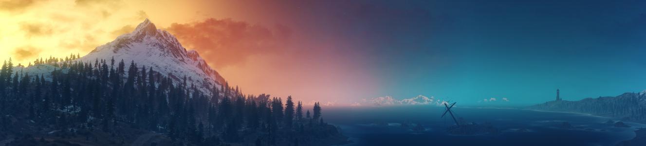 巫师3:狂猎,风景,全景,高清