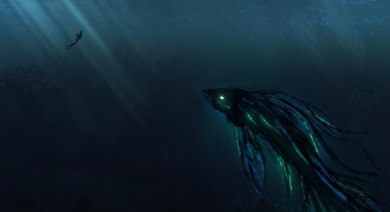 深海,水肺潜水,巨人,HD,4K