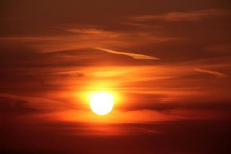 日落,晚上,天空,5K