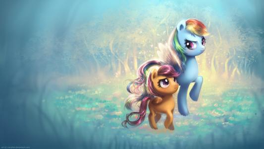 小马,Ponyville,彩虹翼,神奇,可爱,高清