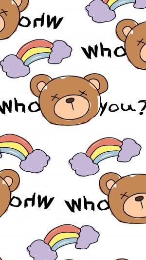 手绘可爱卡通小熊