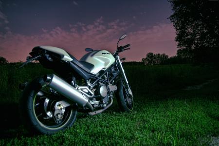 杜卡迪怪物796,夜空,摩托车,赛车,自行车,运动自行车,检讨,试驾,买,租(水平)