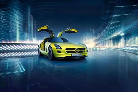 奔驰SLS AMG E-Cell,电动车,高清