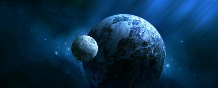 开普勒452b,外行星,行星,空间,星星(水平)