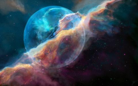 泡沫星云,高清