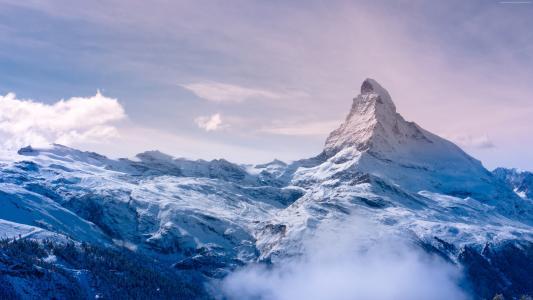 采尔马特,4k,高清壁纸,瓦莱州,瑞士,旅游,旅游,度假村,山,雪,云,天空