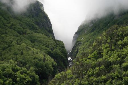 云雾缭绕的峡谷美景