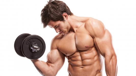 哑铃,六包,健身,二头肌,男,健身,做运动,5K