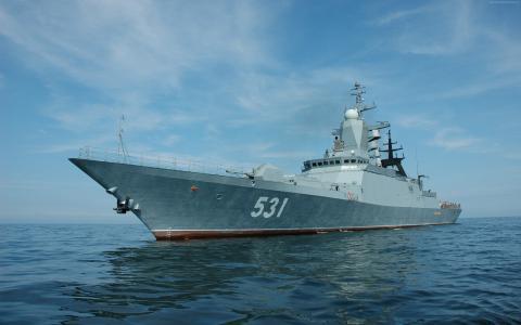苏维埃拉兹特里内,俄罗斯海军,Steregushchiy类,智能,军舰,俄罗斯,海(水平)