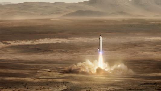 太空X,火星任务,大型火箭,高清,4K