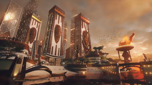 非洲城市,未来派,超越人类,4 k