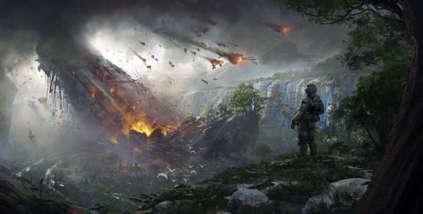 泰坦陨落2,士兵,销毁,概念艺术,4 k