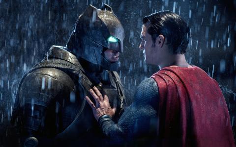 蝙蝠侠超人对峙