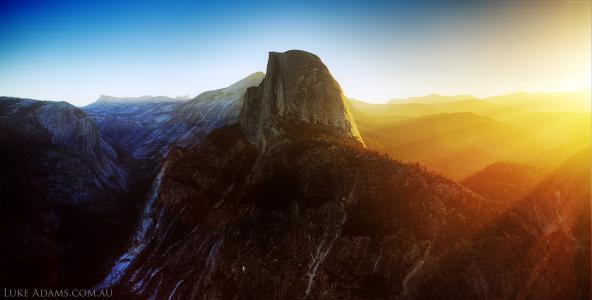 优胜美地,5k,4k壁纸,8k,半圆顶,加利福尼亚州,日出,山(水平)