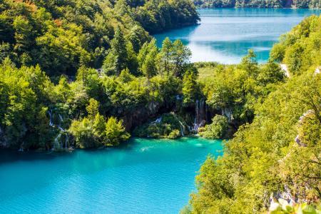 十六湖,国家公园,瀑布,4K