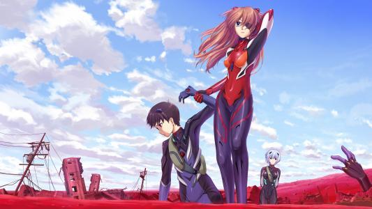 新世纪福音战士Rei Ayanami Asuka Langley