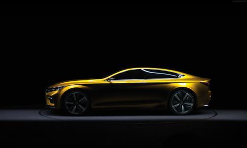 荣威Vision-R,轿车,黄色(水平)