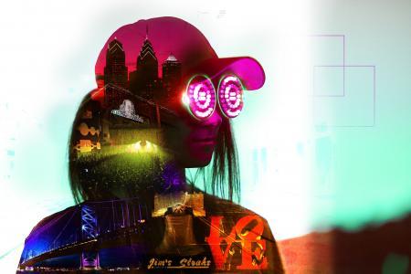 音乐,护目镜,爱,现场音乐会,本杰明富兰克林桥,费城