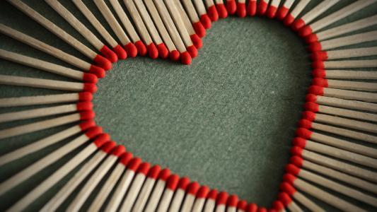 爱的心,火柴,高清,4 k