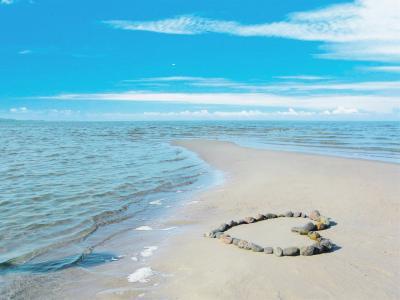 七夕浪漫沙滩告白