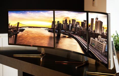 LG UltraWide,CES 2015,QHD IPS,显示器,曲线,高科技新闻2015,审查,工作站(水平)