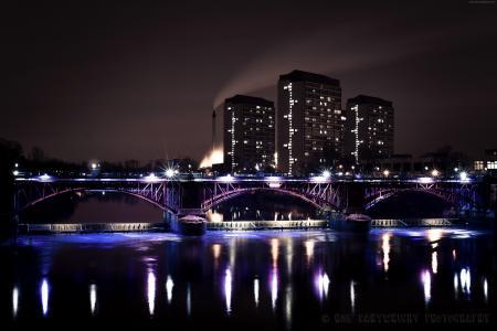 格拉斯哥,苏格兰,酒店,桥,海,湖,海洋,水,光,夜,天空,旅游,假期,预订(水平)
