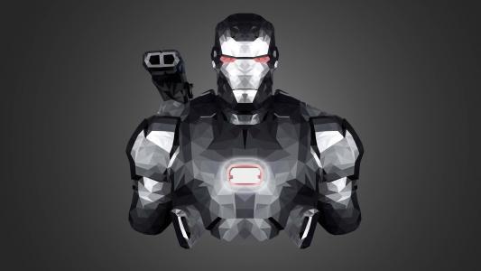 战争机器,钢铁侠,盔甲,低聚,最小,高清
