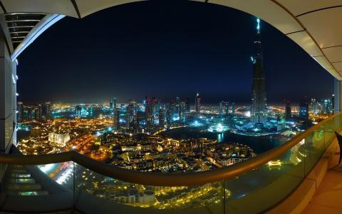 壮观的迪拜市景