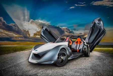 日产BladeGlider,超级跑车,电动车,电动(卧式)