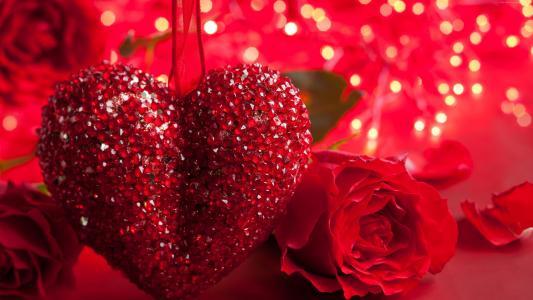 玫瑰,5k,4k壁纸,心,情人节,爱情,浪漫,红色,浪漫(水平)