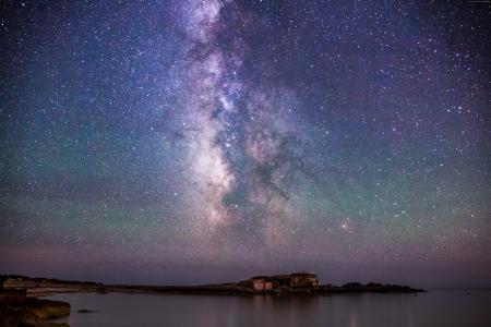 冰岛,4k,5k壁纸,8k,夜,天空,星星,北极光(水平)
