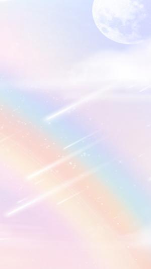 少女心十足彩虹唯美配图