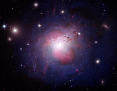巨兽星系,NGC 1275,Perseus A,哈勃太空望远镜,NASA,4K