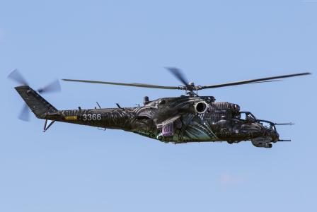 MI-24,俄罗斯军队,战斗机直升机,俄罗斯空军(水平)
