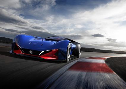 标致,L500 R混合动力,赛车,概念车,4K