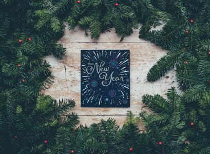 圣诞节,新年,枞树,4k(水平)