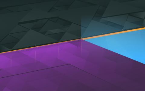 行,黑色,紫罗兰色,蓝色,Kubuntu,股票,高清