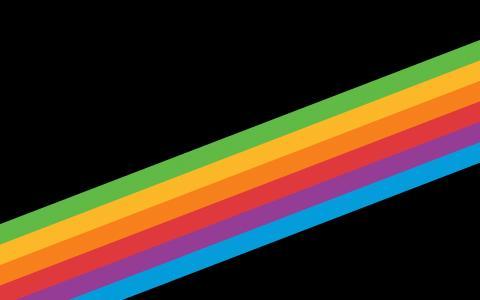 遗产彩虹条纹iPhone X的iPhone 8的iOS 11股票