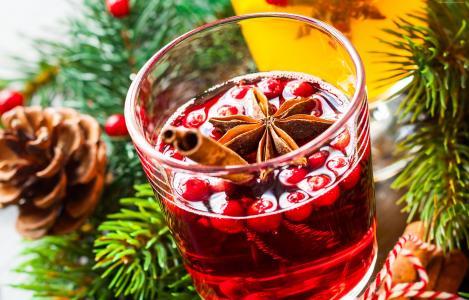 鸡尾酒,浆果,肉桂(水平)