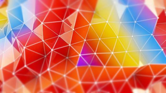 抽象,多彩,三角形,4 k