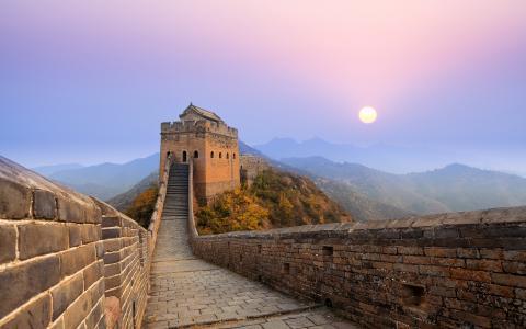 中国的长城日出