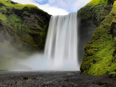 壮观震撼的瀑布