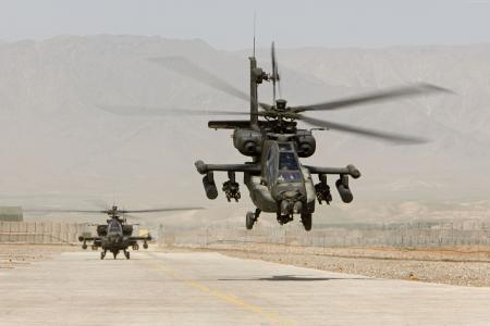 AH-64,阿帕奇,攻击直升机,美国陆军,美国空军(横向)