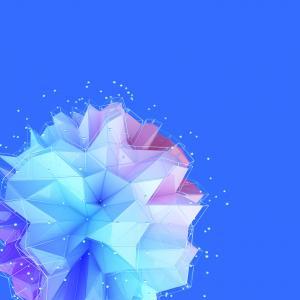 三角形,蓝色,几何,HTC U11 Plus,股票,高清